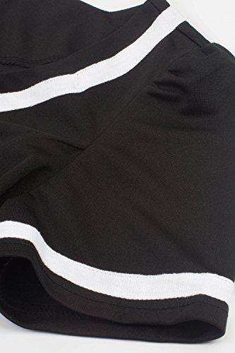 Retro 50er Rockabilly Kleid Petticoat Kleider Retro Kleid Petticoat Faltenrock Kleider Schwaru - 6