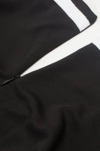 Retro 50er Rockabilly Kleid Petticoat Kleider Retro Kleid Petticoat Faltenrock Kleider Schwaru - 2
