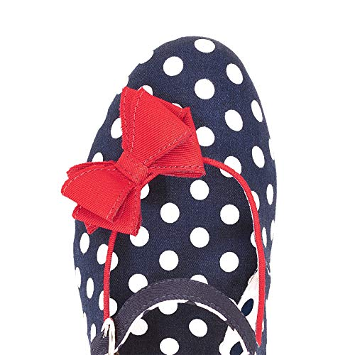 582ff29a15edd9 Ruby Shoo Damen Schuhe Polka Dot Retro Pumps Blau - 2
