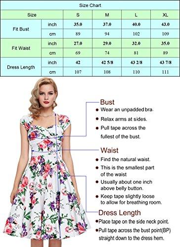 Damen elegant polka dots kleid damenkleider festlich elegant a linie kleid partykleider cocktailkleider L CL0463-2 - 3