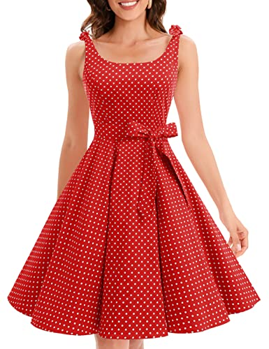 bbonlinedress 1950er Vintage Polka Dots Pinup Retro Rockabilly Kleid