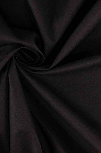 MisShow 2017 Damen Vintage Abendkleid Faltenkleid Transparenter Spitzen Hinten Frei V-Ausschnitt Ärmellos Knielang Retro Schwarz Gr.2XL - 5