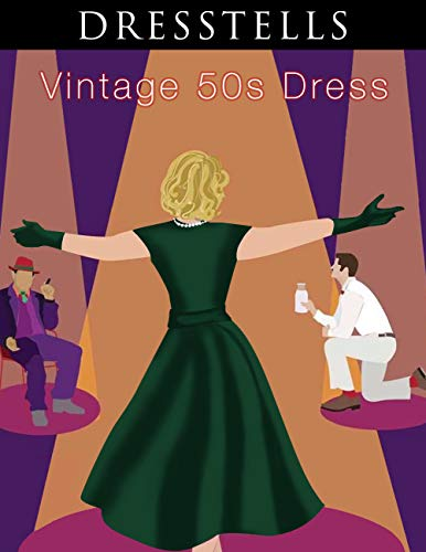 Dresstells Damen 50er Vintage Retro Cap Sleeves Rockabilly Kleider Hepburn Stil Cocktailkleider DarkGreen 2XL - 3