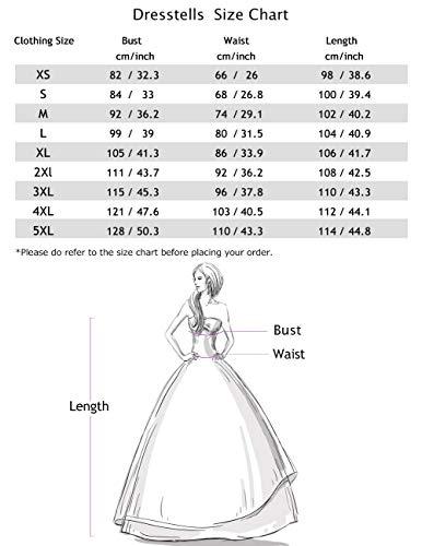 Dresstells Neckholder Rockabilly 1950er Polka Dots Punkte Vintage Retro Cocktailkleid Petticoat Faltenrock Black Red Rose Dot M - 5