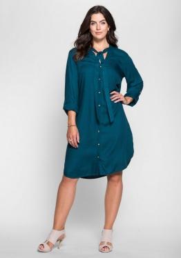 sheego Style Hemdblusenkleid mit Schluppe
