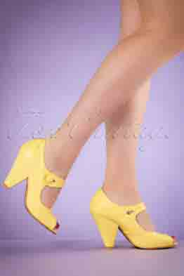 40s Shelly Pumps in Yellow
