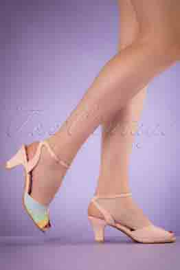 50s Abela Summer Sandals in Pink