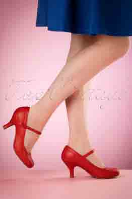 50s Bettie Pumps in Red