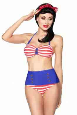 Aussergewöhnlicher Vintage Bandeau- Bikini