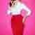 TopVintage exclusive ~ 50s Vixen Pencil Skirt in Lipstick Red
