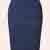 50s Falda Pencil Skirt in Navy