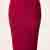 50s High Time Pencil Skirt in Red
