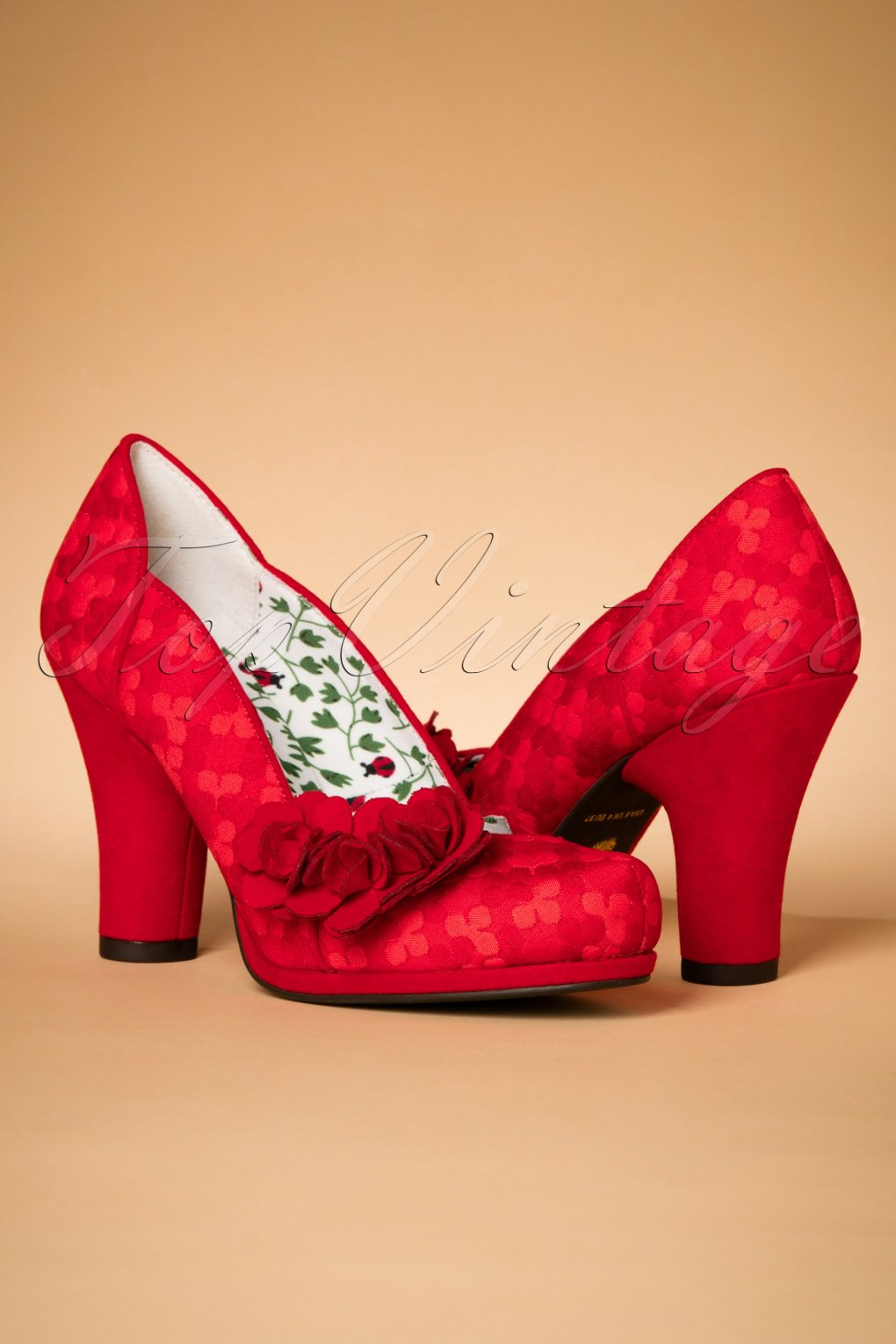 50s charlotte pumps in red for Charlotte dujardin 50 50