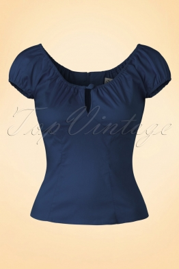 50s Melissa Top in Navy