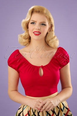 50s Melissa Top in Red
