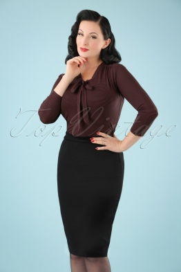 50s Paula Pencil Skirt in Black