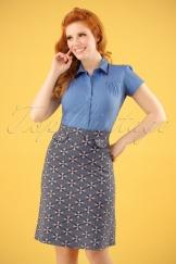 60s Elo Skirt in Blue